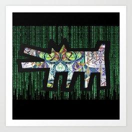 Pied Piper Matrix Dog Art Print