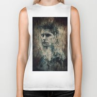 winchester Biker Tanks featuring Dean Winchester by Sirenphotos