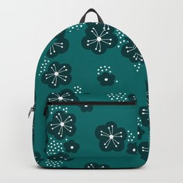 Hello spring Japanese cherry blossom love teal Backpack