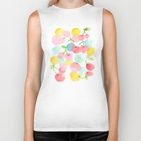 cherry blossom Biker Tanks featuring cherry blossom by zeze