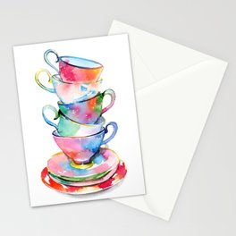 Cosmic tea party Stationery Cards