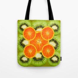 GREEN KIWI & JUICY ORANGE SLICES MODERN ART Tote Bag