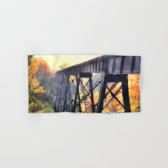 Upper Peninsula Train Trestle Hand & Bath Towel