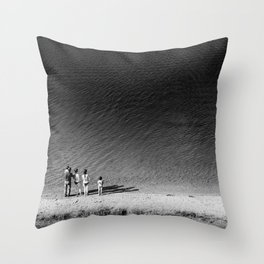 Look Into the Abyss Throw Pillow