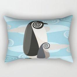Penguin Pair Paisley Rectangular Pillow