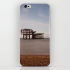 Remains Of brighton Pier iPhone Skin