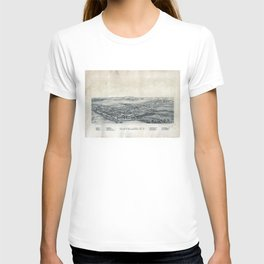 Aerial View of Cleveland, New York (1890) T-shirt