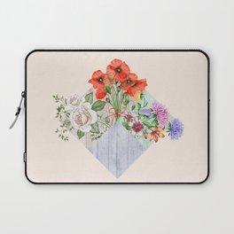 Floral Blocks Laptop Sleeve