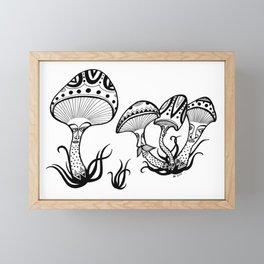 Mushrooms Framed Mini Art Print
