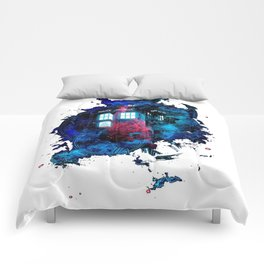Time And Space Mist Tardis Doctor Who Comforters