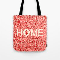 wallet Tote Bags featuring Home:家 by aPersonalidea