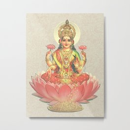 Lakshmi, Goddess of Love (Coral) Metal Print