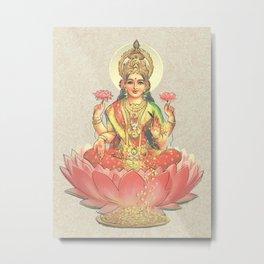 Lakshmi, Goddess of Love (Coral) Metal Print