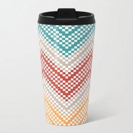 C13 pattern series - pixel chevron Metal Travel Mug