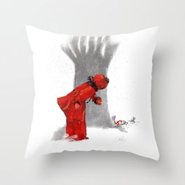First Flower Throw Pillow