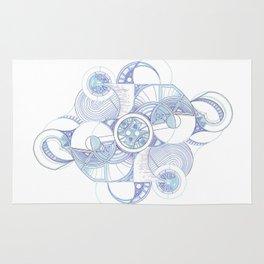 Cyclic Blue Rug