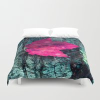 woods Duvet Covers featuring woods  by mark ashkenazi