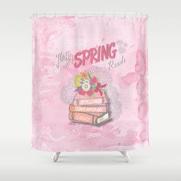 Fluffy Spring Reads Shower Curtain