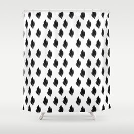 Falling for you black and white pattern Shower Curtain