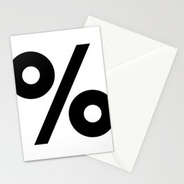 Percent Sign (Black & White) Stationery Cards