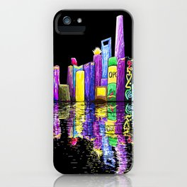 Shanghai Bund Skyline digital iPhone Case