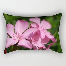 Pink Oleander Blossom Rectangular Pillow