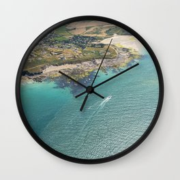 Aerial Views of the mouth of the River Camel, Padstow, Cornwall Wall Clock