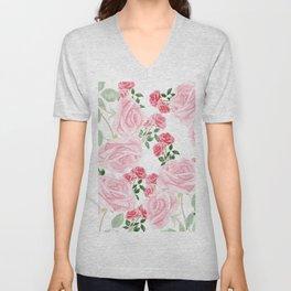 pink rose patterns Unisex V-Neck