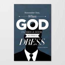 Mad Men Typographic poster - Roger Canvas Print