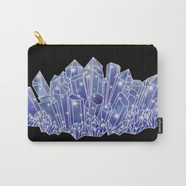 Blue/Purple Crystal Cluster Carry-All Pouch