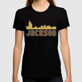 Vintage Style Jackson Mississippi Skyline T-shirt