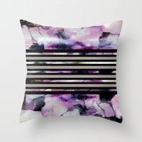 blossom Throw Pillows featuring Blossom // by Georgiana Paraschiv