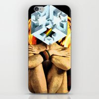 dark side of the moon iPhone & iPod Skins featuring Dark Side of the Moon by Joellart
