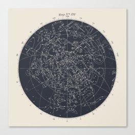 Map n XIV Canvas Print
