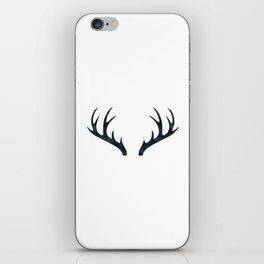 Antlers Black and White iPhone Skin