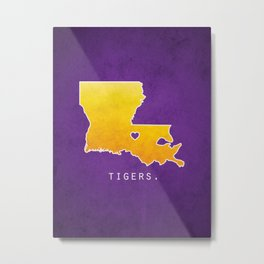 Louisiana State Tigers Metal Print