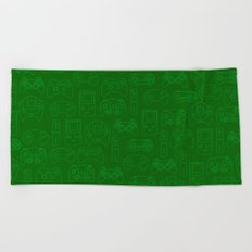 Gamers' Controllers - Avocado Green Beach Towel