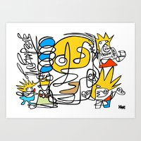 simpsons Art Prints featuring Simpsons by Ray Kane