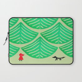 Little Red Riding Hood and the Big Bad Wolf in the Forest Laptop Sleeve