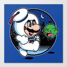 Super Marshmallow Bros. Canvas Print