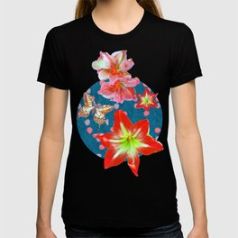 Amaryllis and Butterflies 2 T-shirt