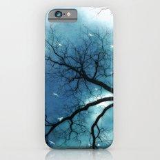 Surreal Aqua Blue Tree Branches Haunting Nature Raven Decor iPhone 6s Slim Case