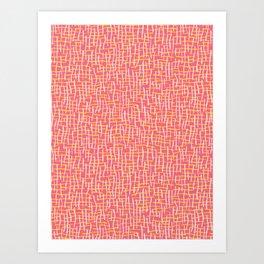 Pink Woven Burlap Texture Seamless Vector Pattern Art Print