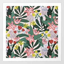Lush Florals Art Print