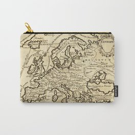 Vintage Map of Europe Carry-All Pouch