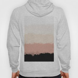Abstract Rose Color Flora Blush Hoody