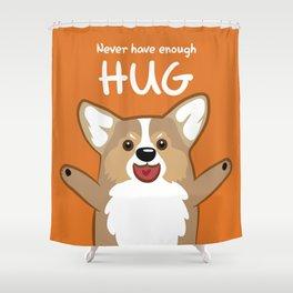 Hug Corgi Shower Curtain