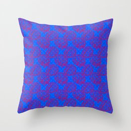 Brain Pattern Cotton Candy Colored Throw Pillow