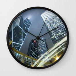 Hong Kong Night City Wall Clock