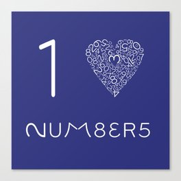 I heart Numbers Canvas Print